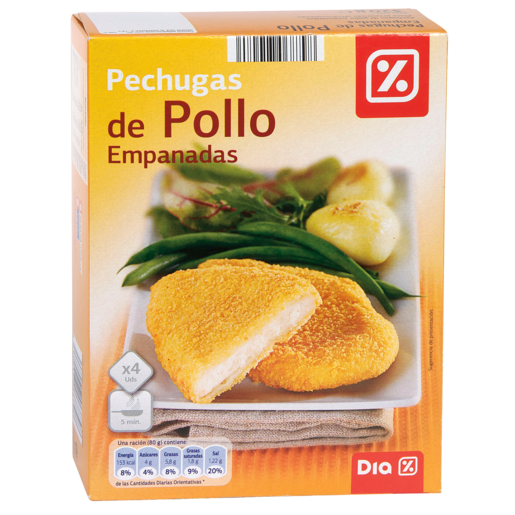 DIA pechugas de pollo empanadas caja 320 gr