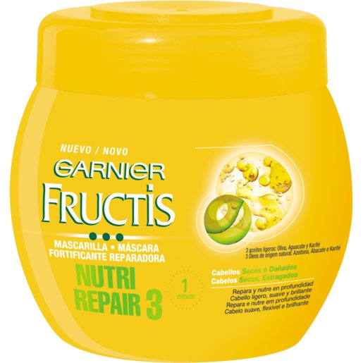 FRUCTIS mascarilla nutri repair 3 fortificante reparadora tarro 400 ml