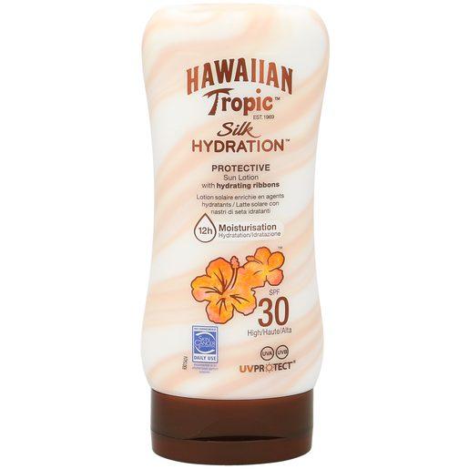 HAWAIIAN TROPIC loción solar protector silk spf 30 bote 180 ml