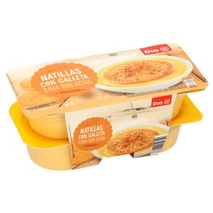 DIA natillas con galleta pack 4 unidades 125 g