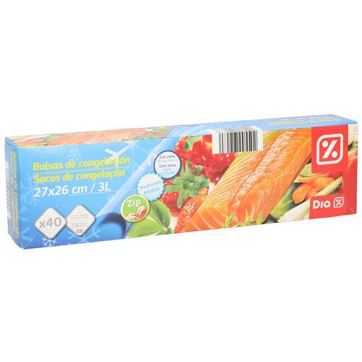DIA bolsas de congelación con cierre zip paquete 40 uds