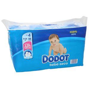 DODOT Azul pañales 9-14 kgs talla 4 paquete 88 uds