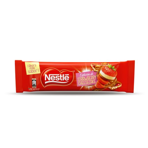 NESTLE chocolate relleno cheescake fresa tableta 240 gr