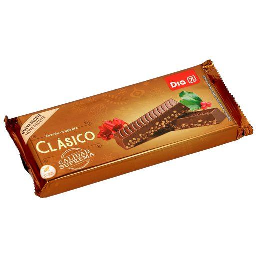 DIA turrón de chocolate crujiente estuche 260 gr