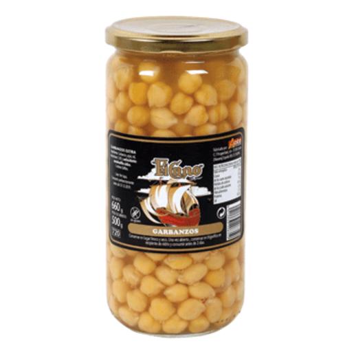 EL CANO garbanzos cocidos frasco 500 gr