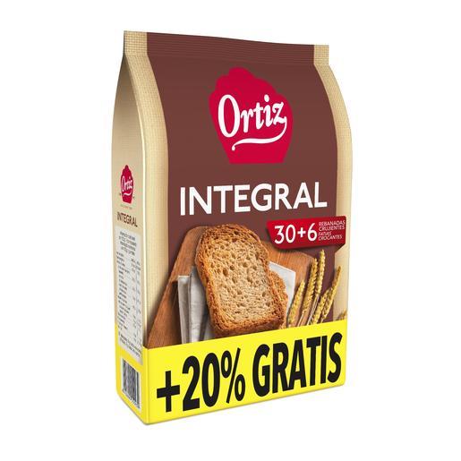 ORTIZ pan tostado integral paquete 270 grs