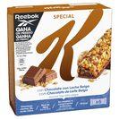 KELLOGGS barritas special k con chocolate con leche belga 6 uds x 20 gr