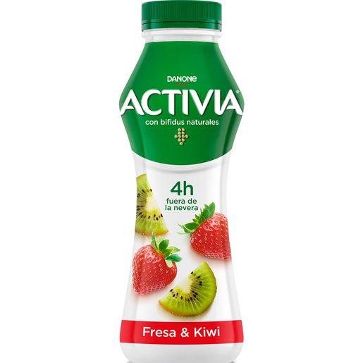 DANONE ACTIVIA Go yogur líquido fresa y kiwi botella 280 gr