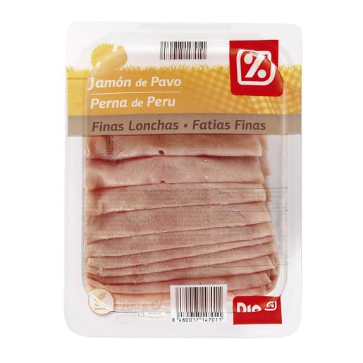 DIA jamón de pavo finas lonchas envase 200 gr