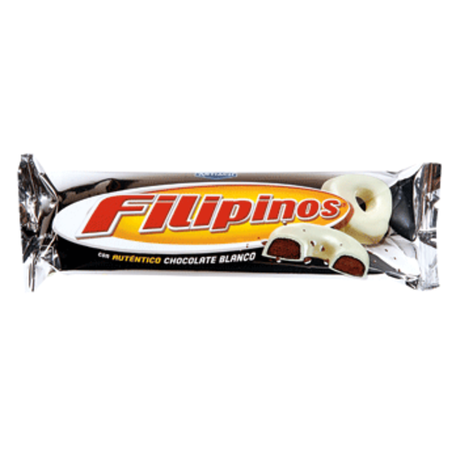 FILIPINOS roscos de galleta con chocolate blanco paquete 135 grs