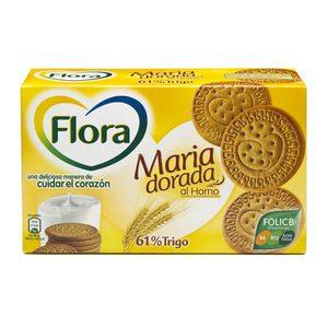 FLORA galleta maría dorada caja 400 gr