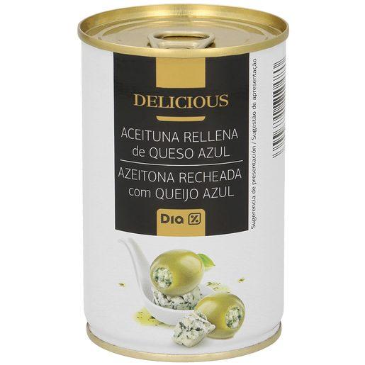 DIA DELICIOUS aceitunas rellenas de queso azul lata 130 gr