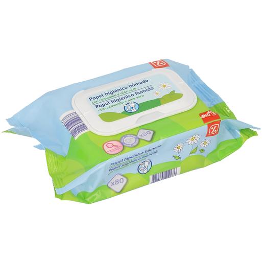 DIA papel higiénico húmedo envase 80 uds