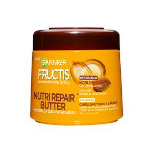 FRUCTIS mascarilla nutri repair 3 butter cabello muy seco tarro 300 ml