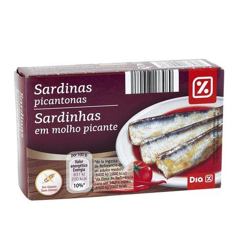 DIA sardinas picantonas lata 84 gr