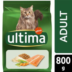 ULTIMA alimento para gatos adulto sabor salmón bolsa 800 gr