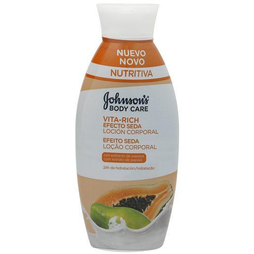 JOHNSON´S Vitarich loción corporal efecto seda papaya bote 400 ml