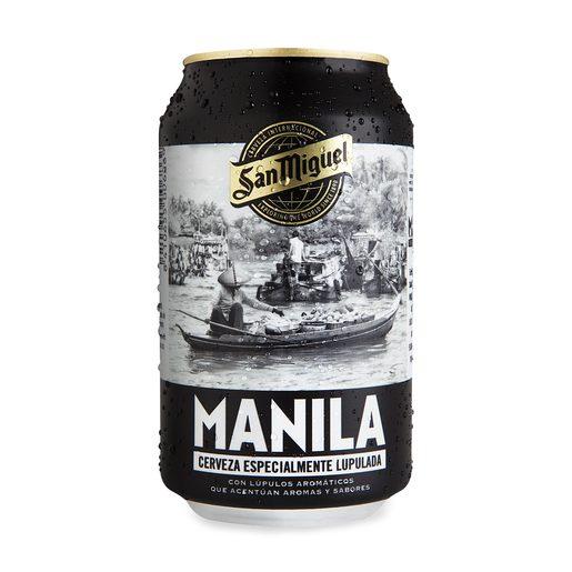 SAN MIGUEL cerveza lupulada manila lata 33 cl