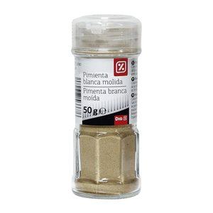 DIA pimienta blanca molida frasco 50 gr