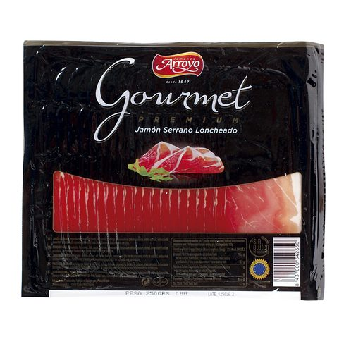 ARROYO Gourmet jamón serrano en lonchas sobre 250 gr