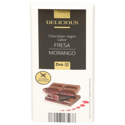DIA DELICIOUS chocolate negro relleno de fresa tableta 100 gr