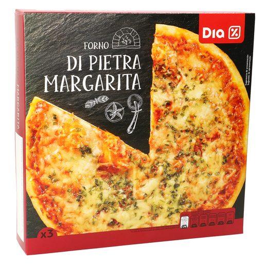 DIA pizza margarita pack 3x300 gr