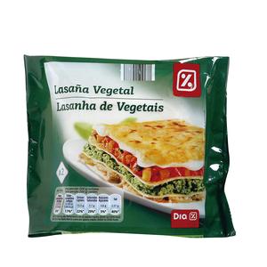 DIA lasaña vegetal estuche 600 gr