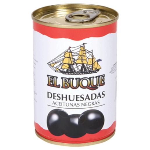 EL BUQUE aceitunas negras deshuesadas lata 120 gr
