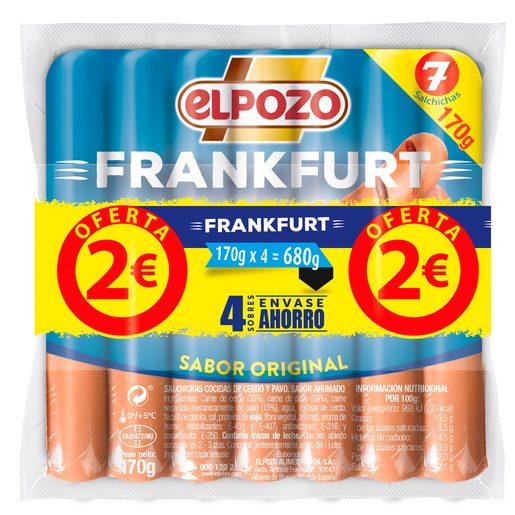 ELPOZO salchichas frankfurt envase 4 x 170 gr