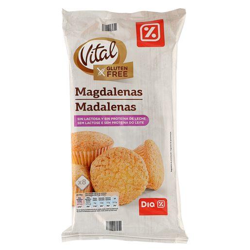 DIA VITAL magdalenas sin lactosa y SIN GLUTEN bolsa 230 gr