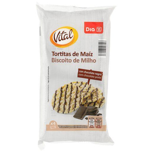 DIA tortitas de maiz con chocolate negro paquete 90 gr