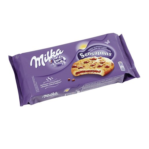 MILKA Sensations galleta rellena de chocolate paquete 156 gr