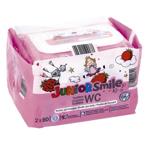 JUNIORSMILE toallitas wc aroma frutas del bosque pack 2x60 uds