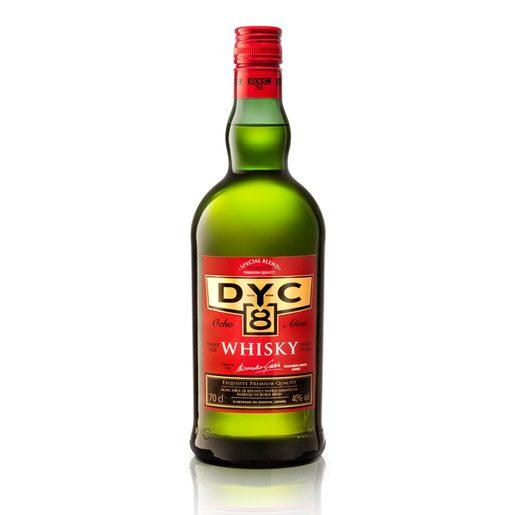 DYC whisky nacional 8 años botella 70 cl