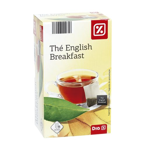 DIA té negro english breakfast estuche 50 bolsitas