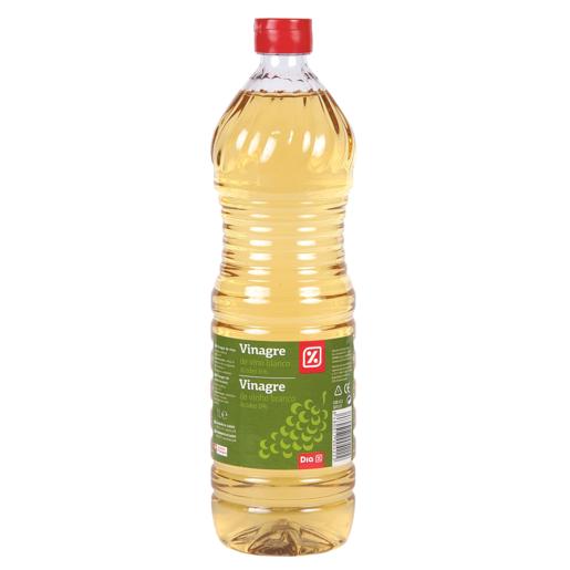 DIA vinagre de vino blanco botella 1 lt
