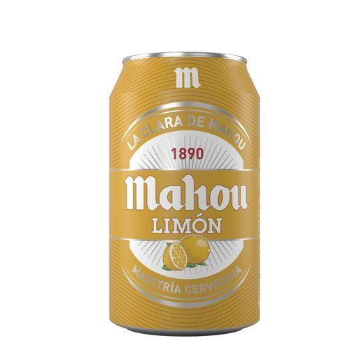 MAHOU cerveza sabor limón lata 33 cl