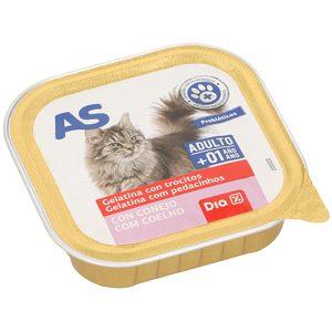 AS alimento para gatos en gelatina con conejo tarro 100 gr