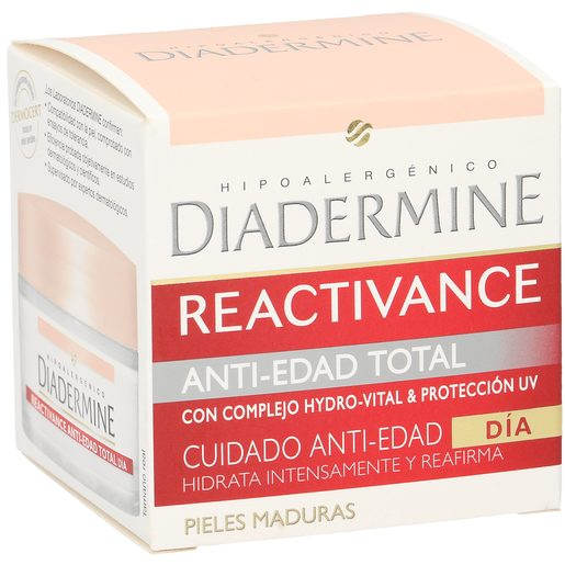 DIADERMINE Reactivance crema facial de día antiedad total tarro 50 ml
