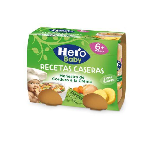 HERO Baby recetas caseras menestra de cordero a la crema tarrito 2x190 gr