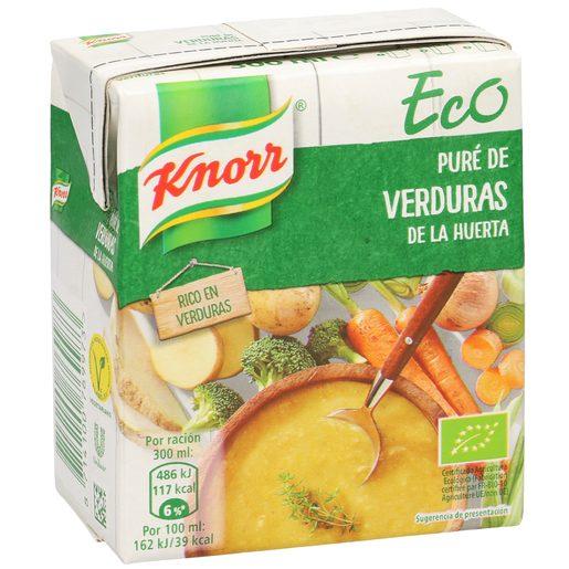 KNORR puré de verduras de la huerta ecológica envase 300 ml