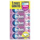 ORBIT chicle grageas sabor bubblemint paquete 5 uds