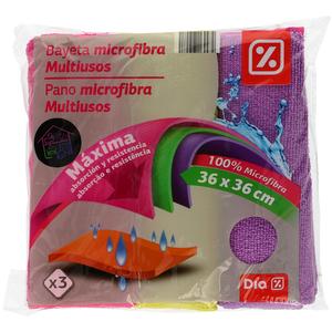 DIA bayeta microfibra multiusos 36 x 36 cm paquete 3 uds