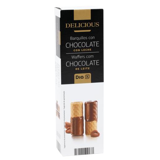 DIA DELICIOUS barquillos chocolate con leche caja 125 gr