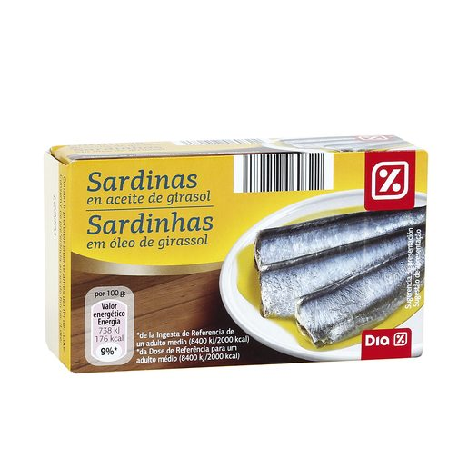 DIA sardinas en aceite vegetal lata 85 gr