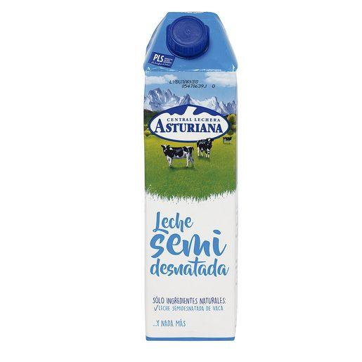 ASTURIANA leche semidesnatada envase 1 lt
