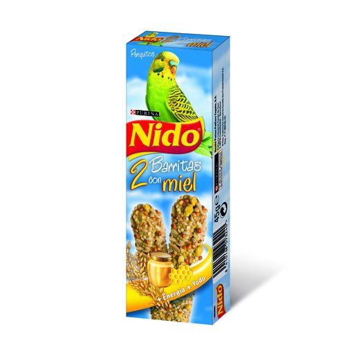 NIDO barritas con miel para periquitos caja 2 uds