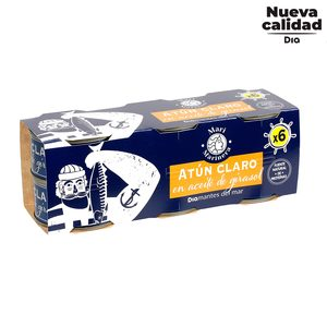 DIA MARI MARINERA atún claro en aceite de girasol pack 6 latas de 56 gr