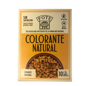 POTE colorante natural caja 10 sobres de 2 gr