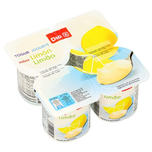 DIA yogur limón pack 4 unidades 125 gr